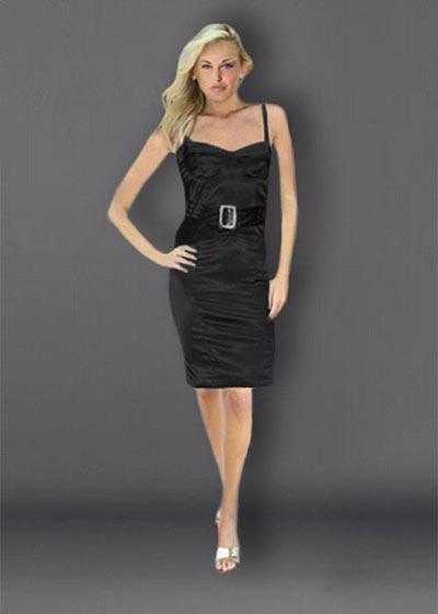 שמלת ערב קצרה שחורה