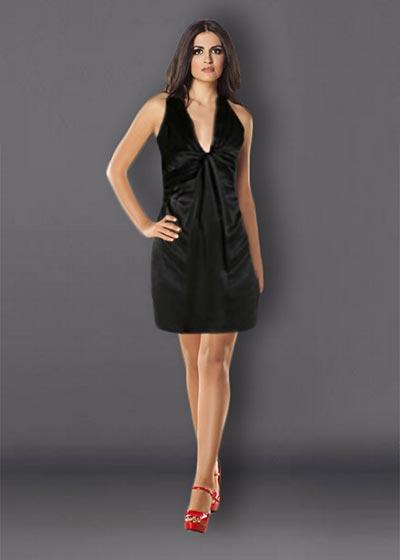 שמלות ערב שחורות קצרות