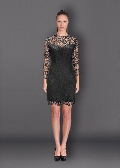 שמלת ערב שחורה קצרה BKT883