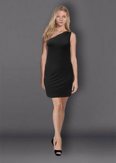 שמלת ערב שחורה קצרה
