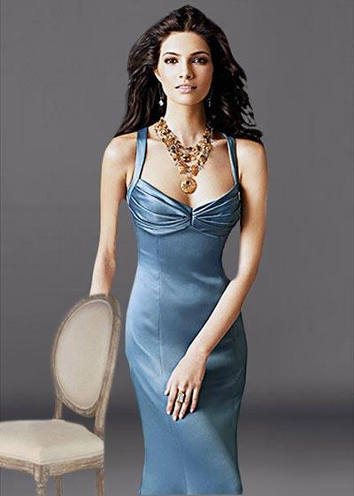 שמלת ערב ארוכה סאטן 2225