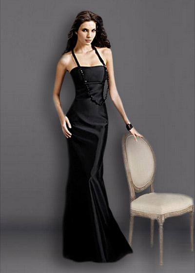 שמלת ערב ארוכה סאטן 2226