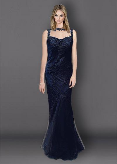 שמלת תחרה ארוכה TIT1495