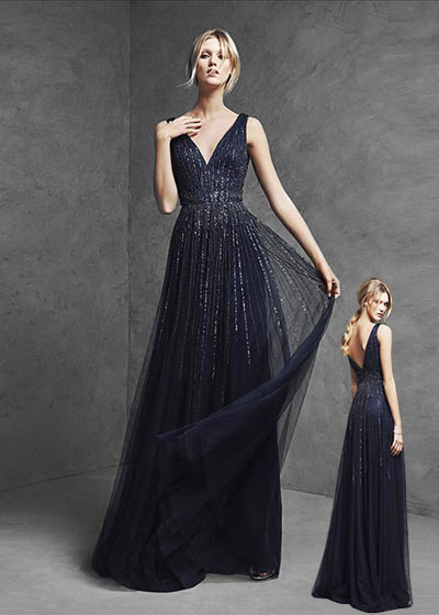 שמלות ערב 2016 שיפון