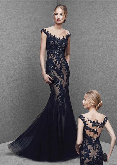 שמלות ערב תחרה 2016